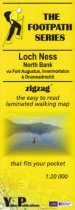 Footpath Map Loch Ness North, Fort Augustus, Drumnadrochit