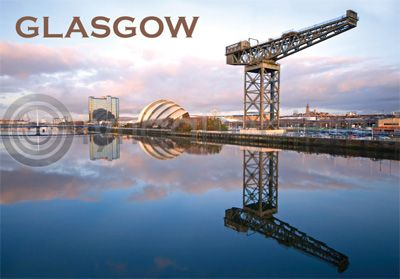 Glasgow - River Clyde, Crane & Armadillo Magnet (H)
