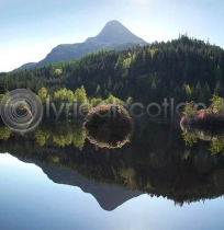 Glencoe Lochan & Pap of Glencoe (Colour)