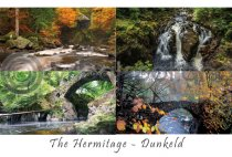 Hermitage Bridge, Autumn Composite Postcard (H A6 LY)