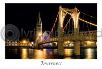 Inverness Bridge by Night Postcard (HA6)