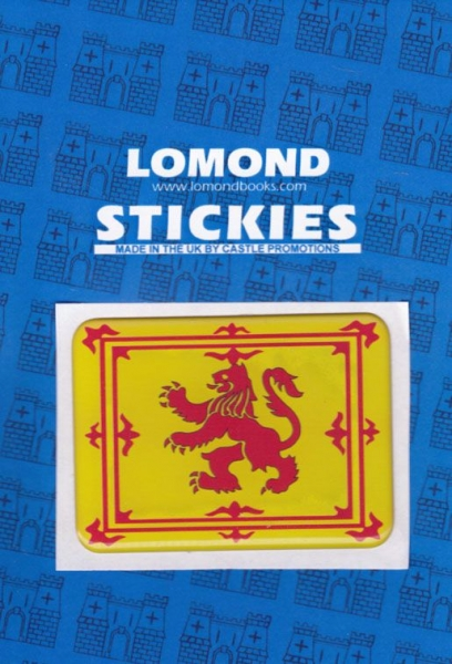 Lion Rampant Rectangle Polydome Stickies