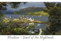 Plockton Afternoon Sun from Above Postcard (HA6)