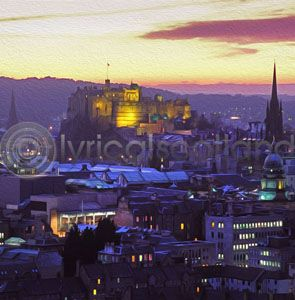 Edinburgh Skyline, Dusk (Art)