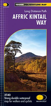 XT40 Map Long Distance Paths Affric Kintail Way