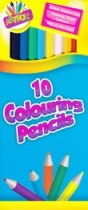 10 Colouring Pencils