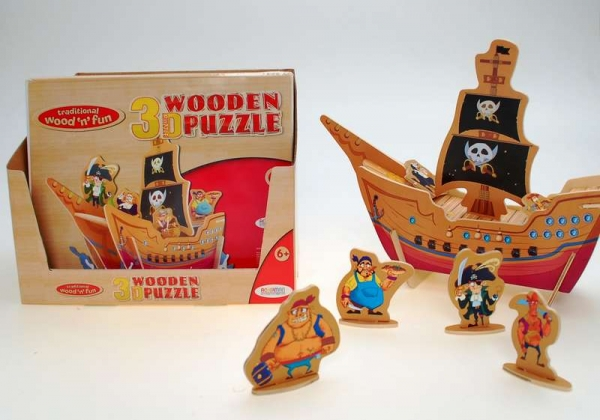 Wood 3D Puzzle Pirates (DPU16)