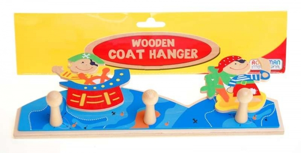 Wood Pirate Coat Hanger