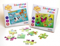 Let's Learn 24 piece Insect & Animal Puzzle (2 Asst)