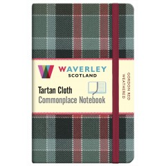 Tartan Cloth Notebook: Gordon Red Weathered