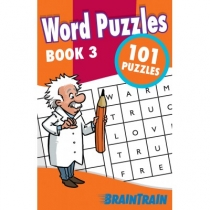 BrainTrain 101 Puzzles Word Puzzles Book 3