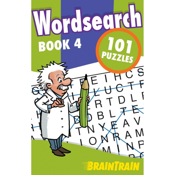 BrainTrain 101 Puzzles Wordsearch Book 4