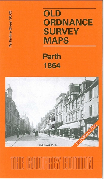 Old OS Map Perth 1864 Coloured