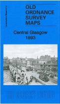 Old OS Map Glasgow Central 1893