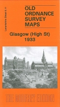 Old OS Map Glasgow (High Street) 1933