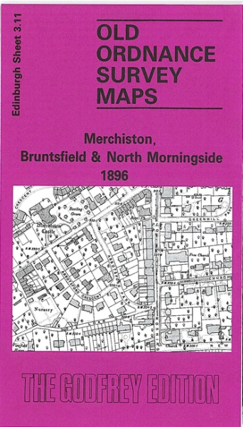 Old OS Map Merchiston & Bruntsfield 1896