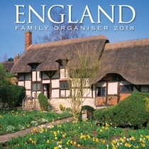 2018 Calendar England Family Organiser (2 for £5) (Mar)
