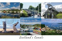Scotland's Canals Composite Postcard (HA6)