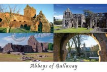 Abbeys of Galloway Postcard (HA6)