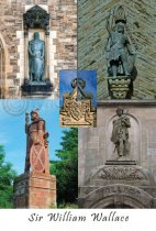 Sir William Wallace Statues Composite Postcard (VA6)