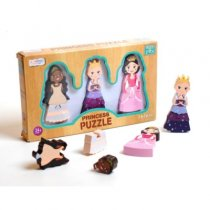 Wood Deluxe 3pc Princess Puzzle