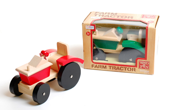 Wood Deluxe Farm Tractor