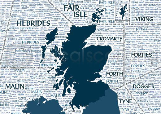 Scotland Shipping Forecast Magnet (H)
