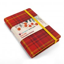 Tartan Cloth Notebook Pocket: Rowanberry (Jun)