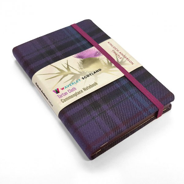 Tartan Cloth Notebook Pocket: Thistle (Jun)