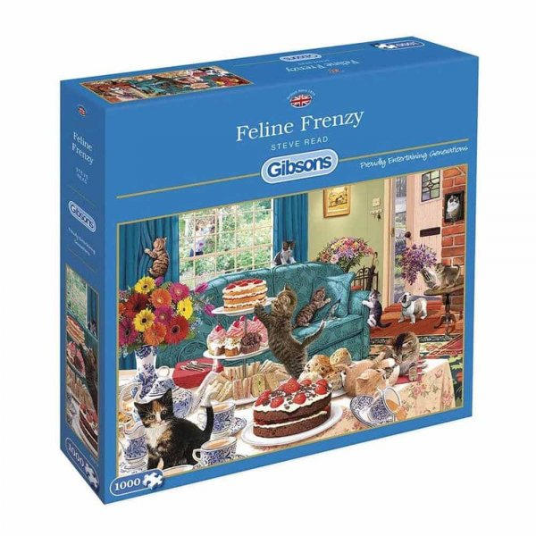 Jigsaw Feline Frenzy 1000pc