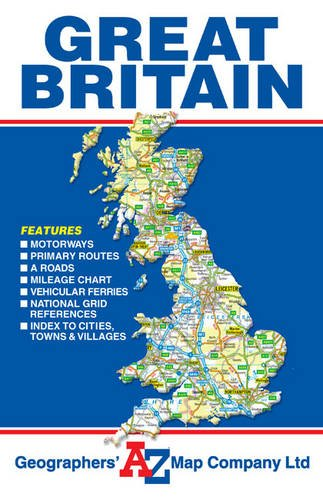 2016 Great Britain Road Map Folded (AZ)