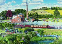 Jigsaw Days in the Country - Steam Mill 1000pc