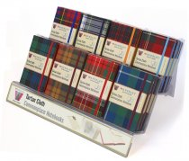 Tartan Cloth Notebook Acrylic 24 Copy Display Stand