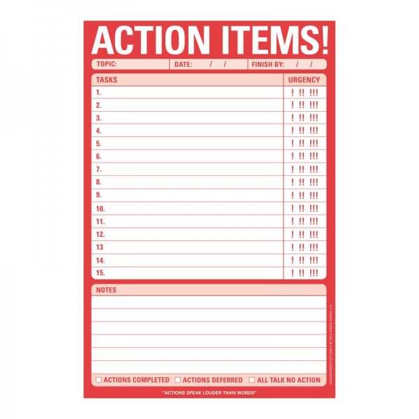 Classic Pad: Action Items!