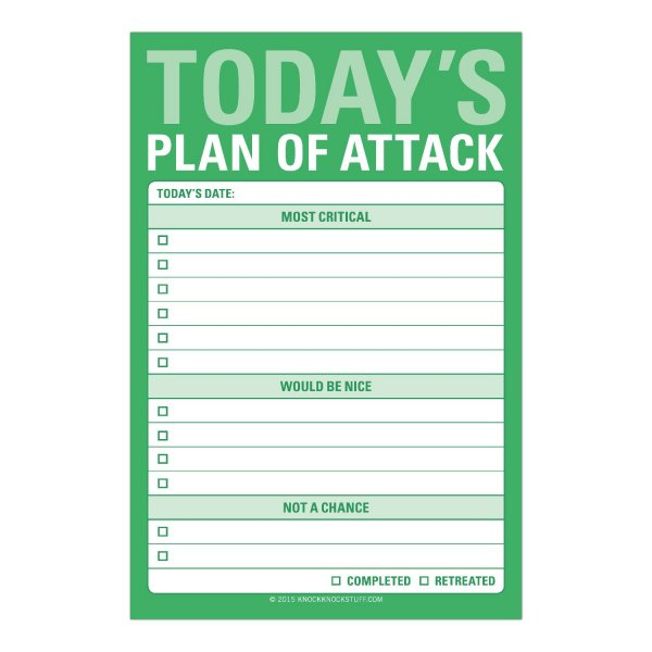 Great Big Stickies: Today's Plan of Attack