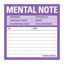 Sticky Notes: Mental Note