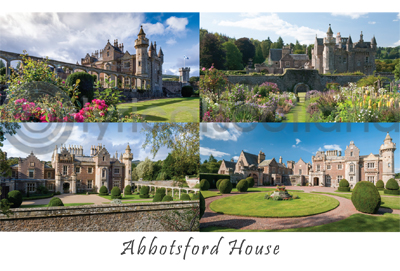 Abbotsford House Composite Postcard (HA6) (Net 12p)