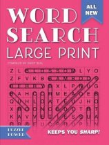 Word Search Large Print Pink (Aug)