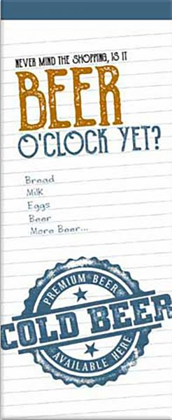 Shopping List Pad Beer O'Clock (Sep)