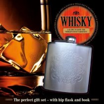 Whisky Book & Hip Flask Gift Set (Sep)