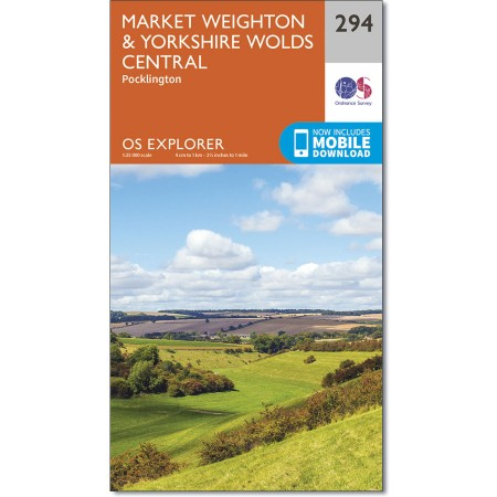 Explorer 294 Market Weighton & Yorkshire Wolds Central