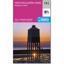 Landranger 182 Weston-super-Mare, Bridgwater & Wells