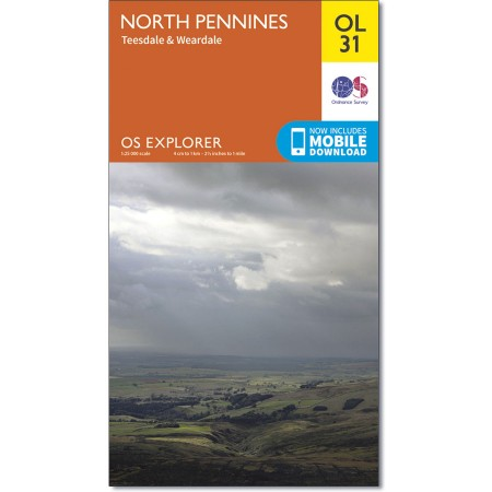 Explorer OL 31 North Pennines - Teesdale & Weardale