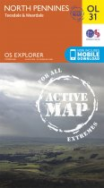 Explorer Active OL 31 North Pennines, Teesdale, Weardale