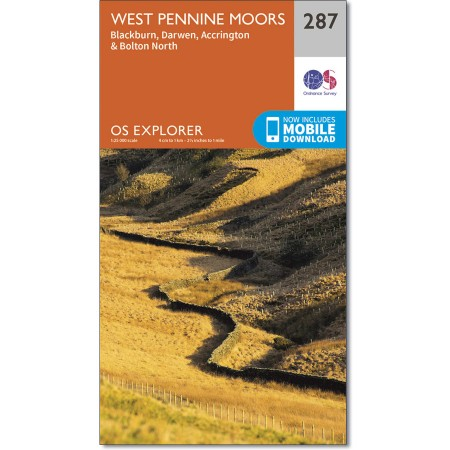 Explorer 287 West Pennine Moors - Blackburn, Darwen