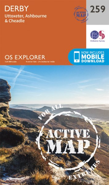 Explorer Active 259 Derby, Uttoxeter, Ashbrne. & Cheadle