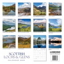 2020 Calendar Scottish Lochs & Glens (2 for 6v) (Mar)