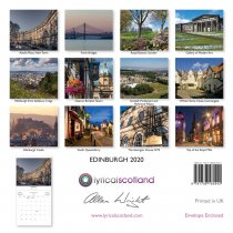 2020 Calendar Edinburgh (Mar)