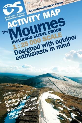 Activity Map Mournes inc Slieve Croob Laminated 1:25,000