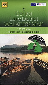 Walkers Map 02 Central Lake District Laminated